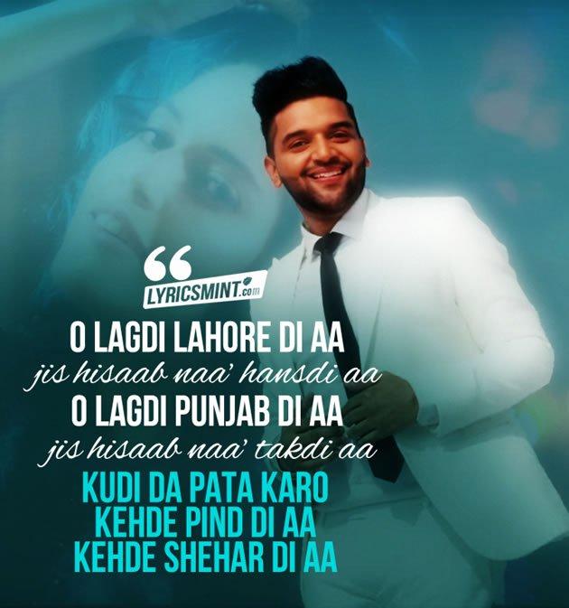 Lahore Lyrics in Hindi | Guru Randhawa