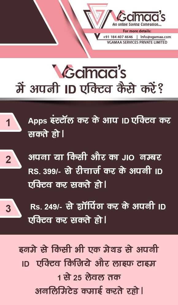 how to active id in vgamaa's app