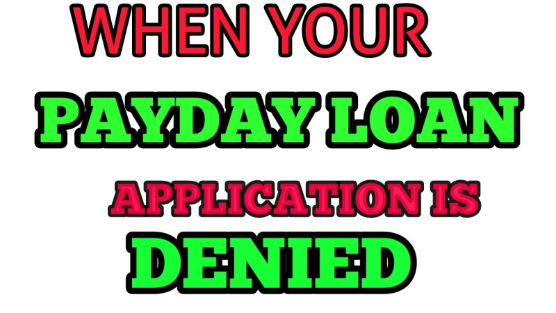 When Your Payday Loan Application Is Denied