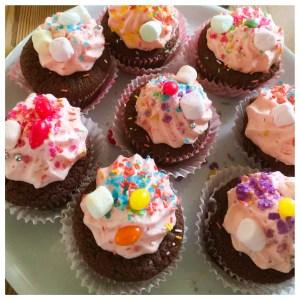 MLP unicorn cupcakes til temafest