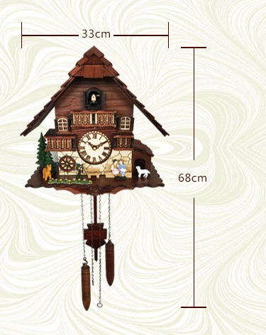 KW2622 description - A18KCKW2622MD Kaiser Black Forest Chalet Quartz Cuckoo solid wood