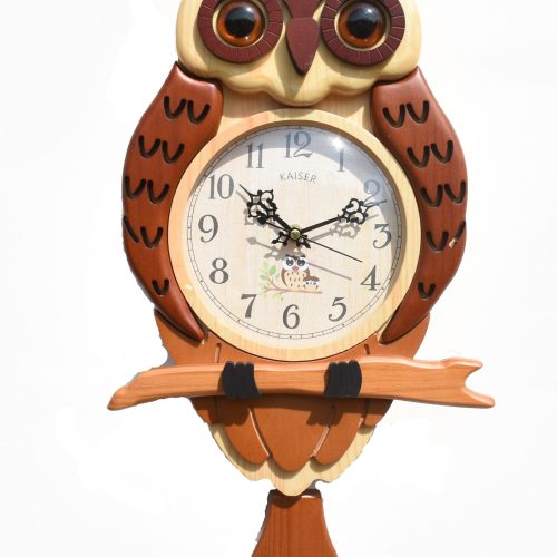 DSC 0451 2 scaled - A18KCKA035MB Owl Clock (brown)