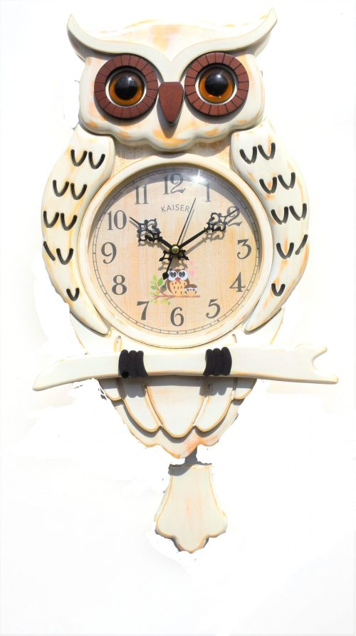 DSC 0458 2 scaled - A18KCKA035M Owl Clock white