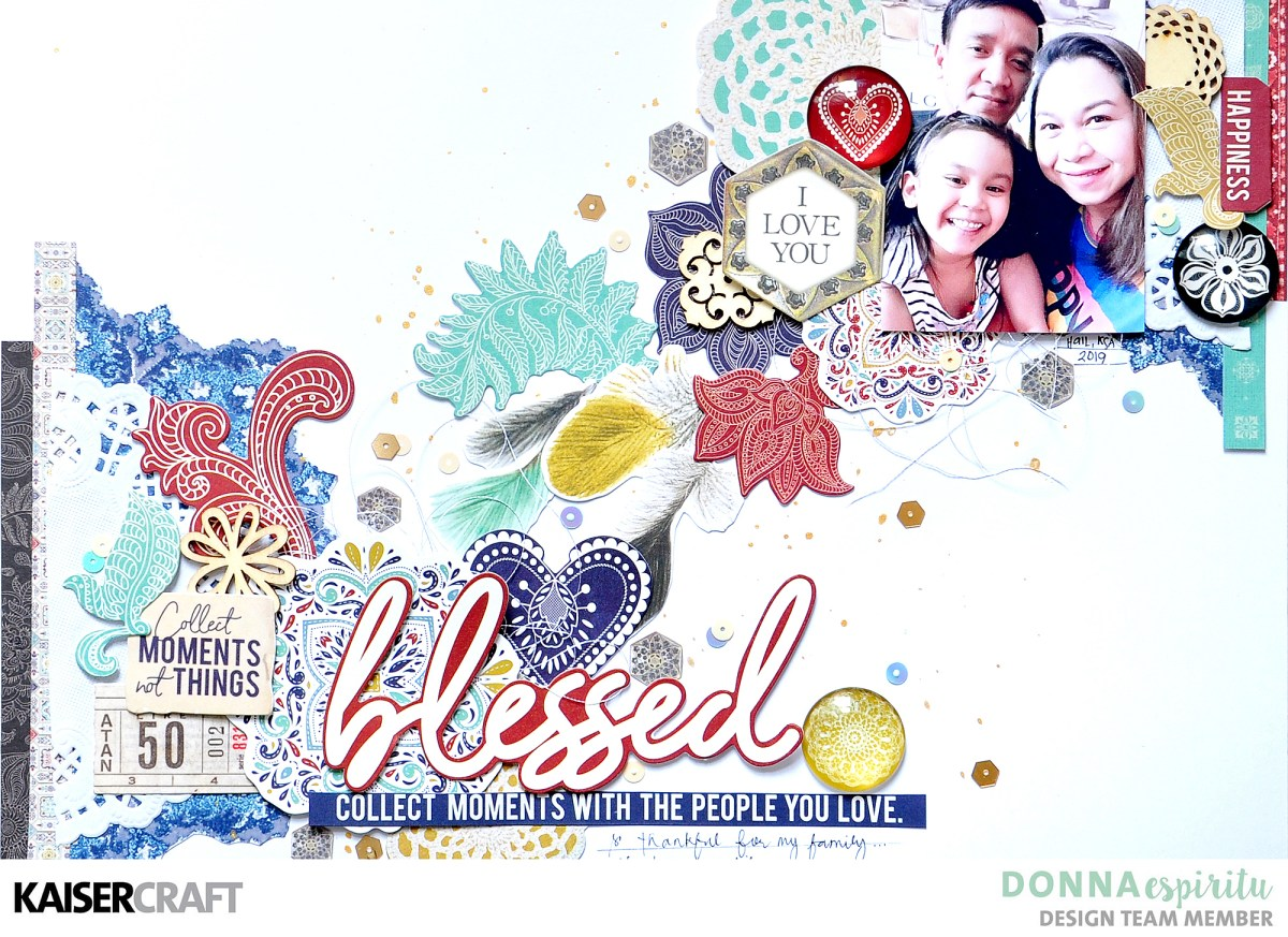 Blessed | Grand Bazaar Scrapbook Layout