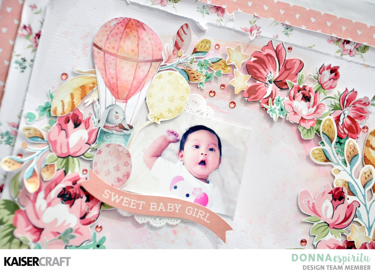 Sweet Baby Girl Scrapbook Layout