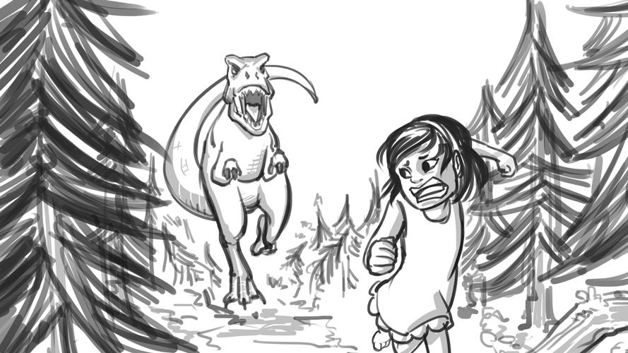 Felix Kaiser Illustrationen – T-Rex 03