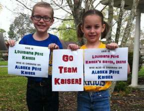 Cheering on Pete Kaiser! Here's to Iditarod 2017! Geaux Team Kaiser!!! Mary, Doug, Pete and Irene Kaiser