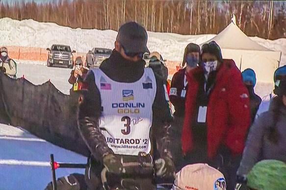 Iditarod Race Start - Pete Leaves the Starting Line