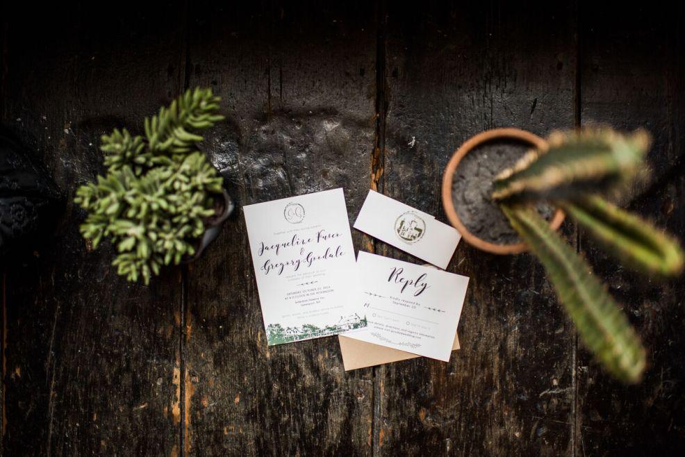 Romantic Jedidiah Hawkins Inn Wedding Kaitlyn Ferris New York Invitations