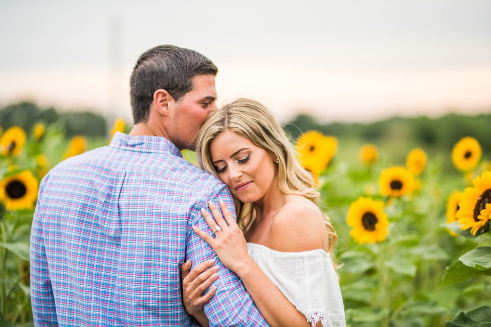 sunflowers romantic engagement Kaitlyn ferris photography