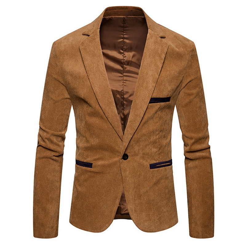 Mens Fashion Brand Blazer British's Style Casual Slim Fit Suit Jacket