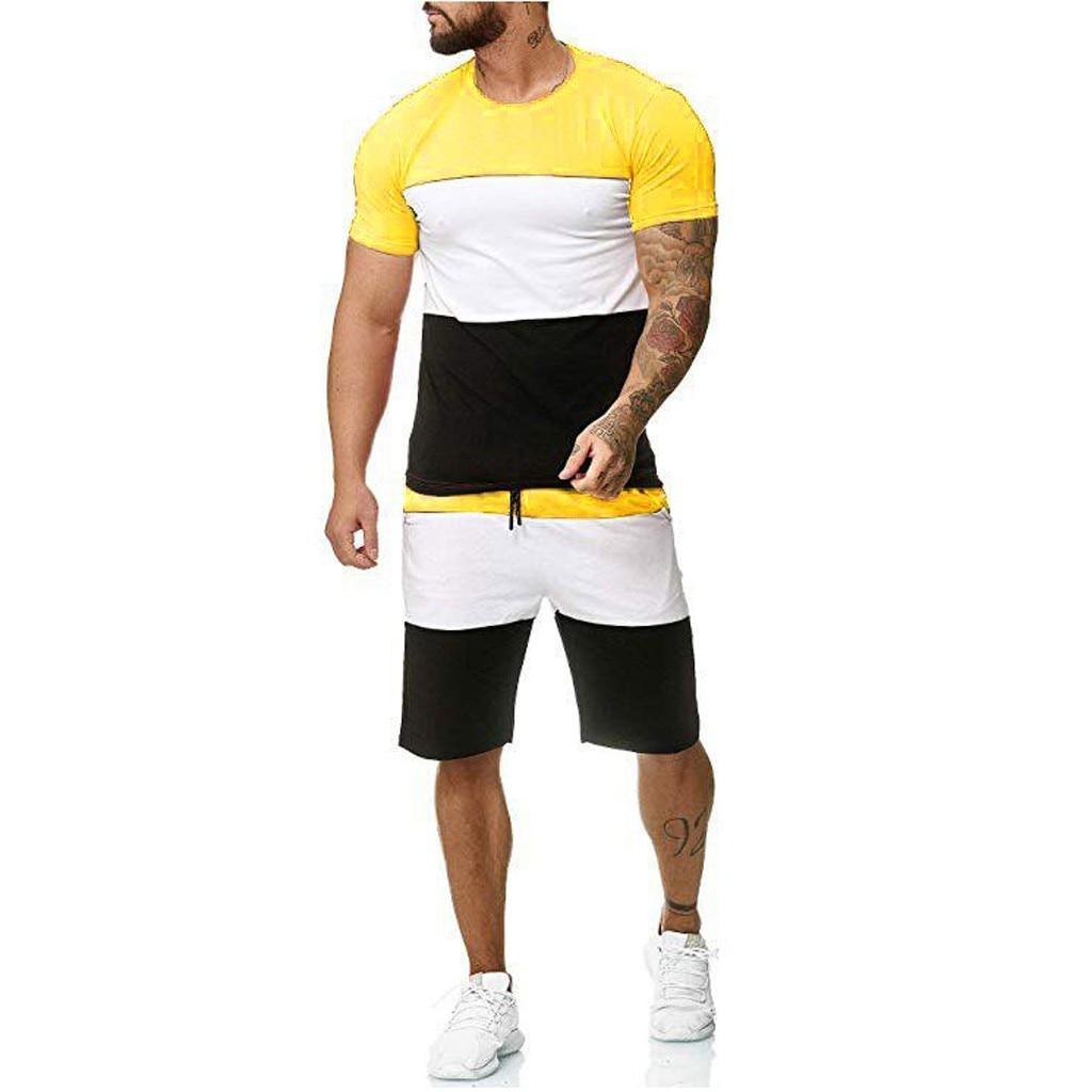 Fashion Men's Sets Summer 2pc Tracksuit Shorts Sets