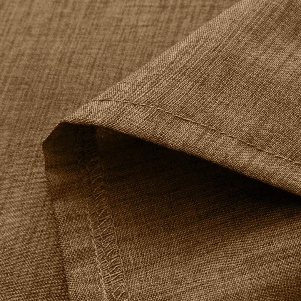Men's Baggy Cotton Linen Solid Color Short Sleeve Retro Tops