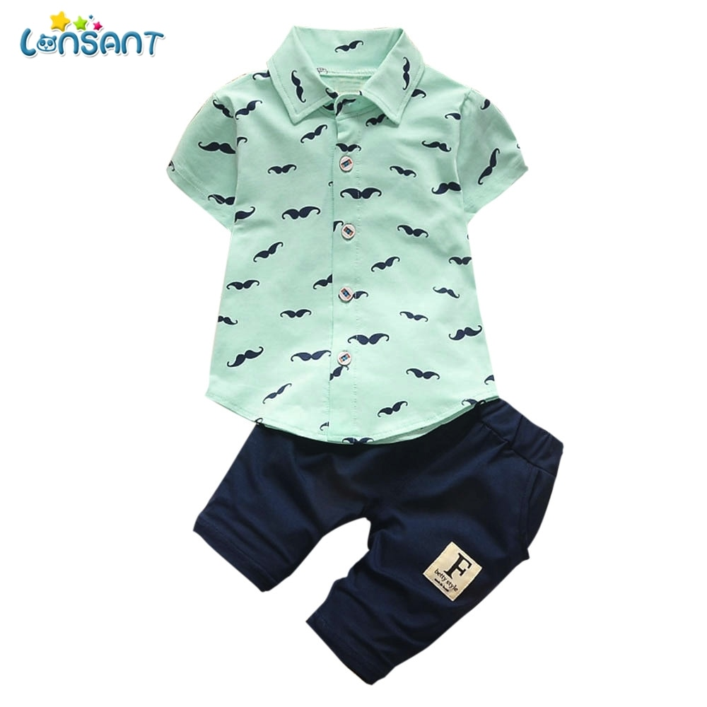 LONSANT Baby Boy Gentleman Outfits Suit Short Sleeve