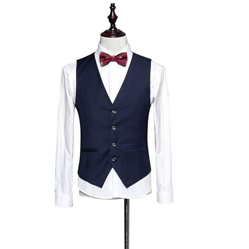 Slim Fit Mens Suit Vest Male Waistcoat