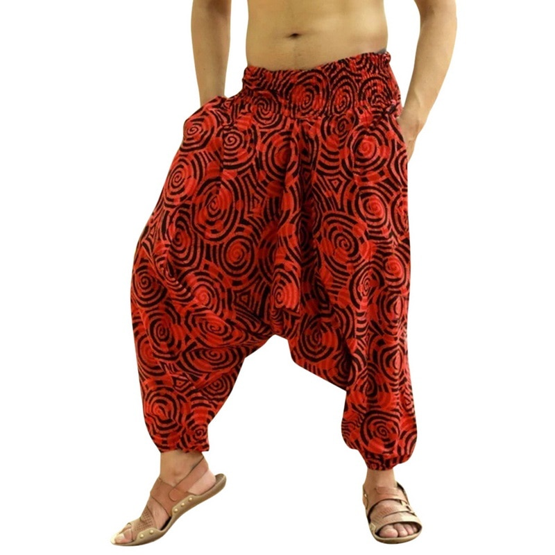 Wide Legs Ethnic Style Pants Casual Joggers Pants