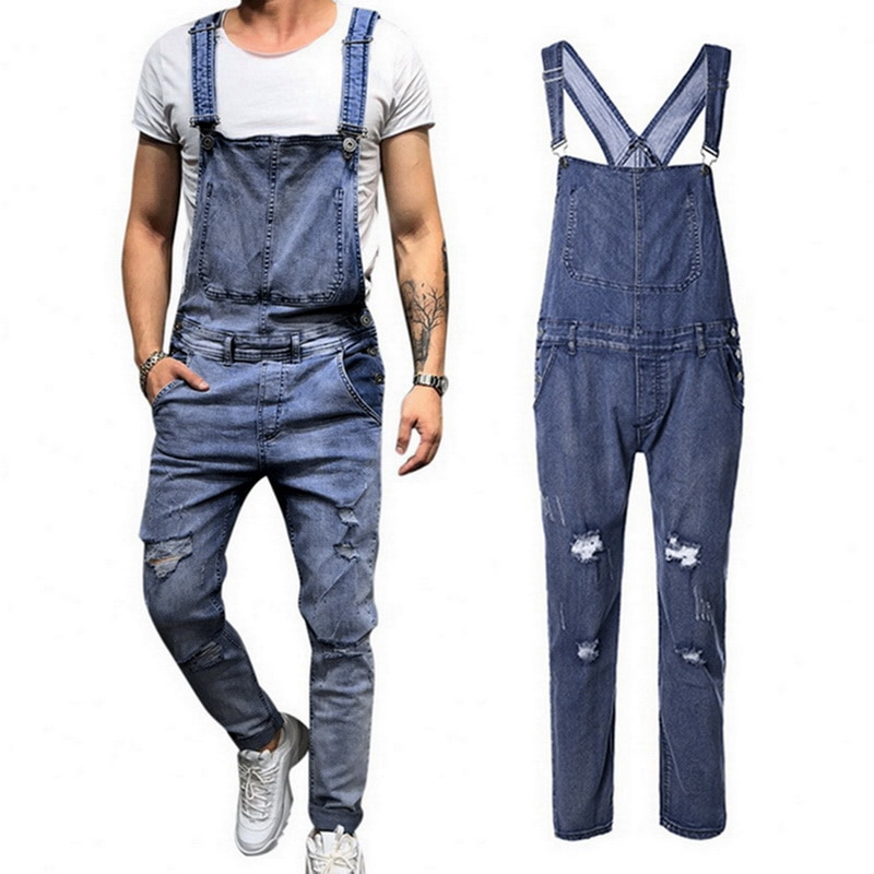 JODIMITTY Men's Demin Jumpsuit Pants