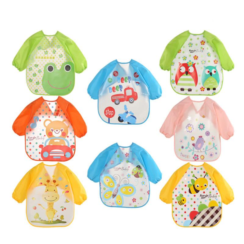 Waterproof Feeding Art Apron Bib Smock Cute Animal Bibs Cloths