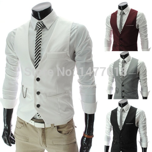 Gilet Homme Casual Sleeveless Formal Business Jacket