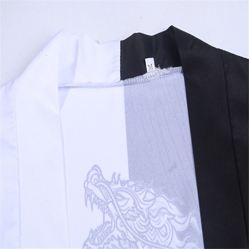 Men Samurai Costume Clothing Kimono Jacket Mens Kimono Shirt
