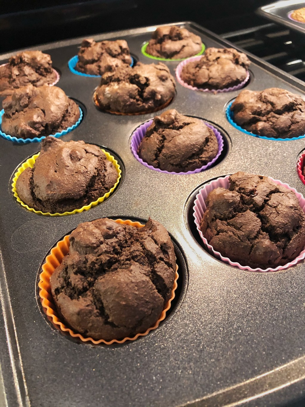 HEALTHY DARK CHOCOLATE AVOCADO MUFFINS RECIPE | Need a homemade recipe for delicious, moist muffins that are sweet with cocoa powder, have no refined sugars, + are easy to make? Just put all the ingredients in a blender or food processor, blend, and bake! They're a great, quick snack for weight loss, clean eating, and even for kids. Click to get this easy, healthy on the go muffins recipe to take to work or satisfy that sweet tooth late at night! #healthy #chocolate #muffins #recipe #avocado