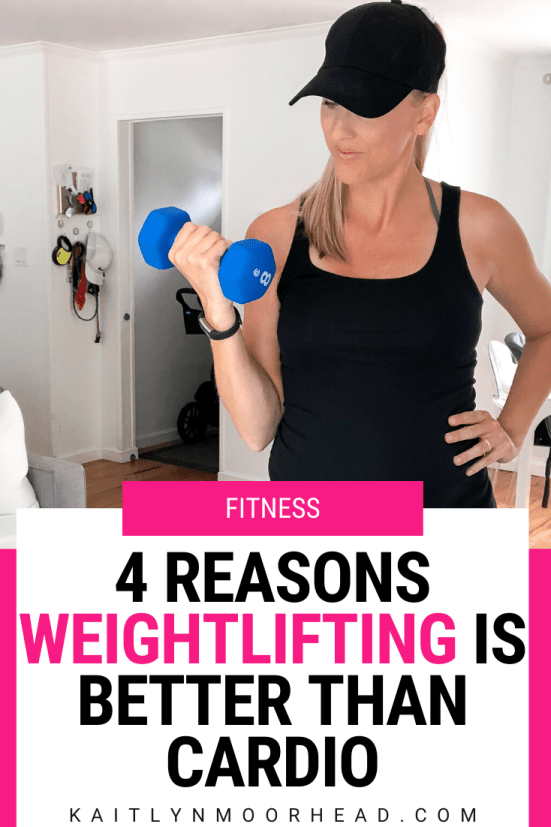 Which is better for weight loss + getting toned: weightlifting or cardio? This article breaks down 4 reasons why weightlifting workouts will help you shed fat + see results faster than cardio. Lifting boosts your metabolism, allows you to burn more calories faster, takes less time, + fights anti-aging. It also helps you get a toned stomach, arms, + legs from home or at the gym so you can see the transformation you've been looking for! Click to read the article now. #weightlifting #women #healthy