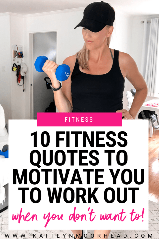 Looking to find some quick motivation to get up + start working out today? I get it! A lot of days, I just don't have it either. My hack? Reading tough love, inspirational quotes to get you motivated to get up, get dressed, + exercise! Whether you want to work out in the morning or just start a new routine, they're the perfect size to save as the background of your phone to help get you to move more each day. Click to download your favorite ones right now! #quotes #motivational #fitness #workout