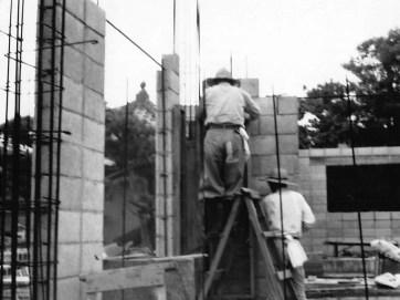 昭和45年6月12日 現在の本堂横応接間付近