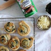 Cheesy Spinach Pinwheels