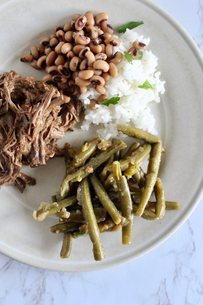 smothered green beans