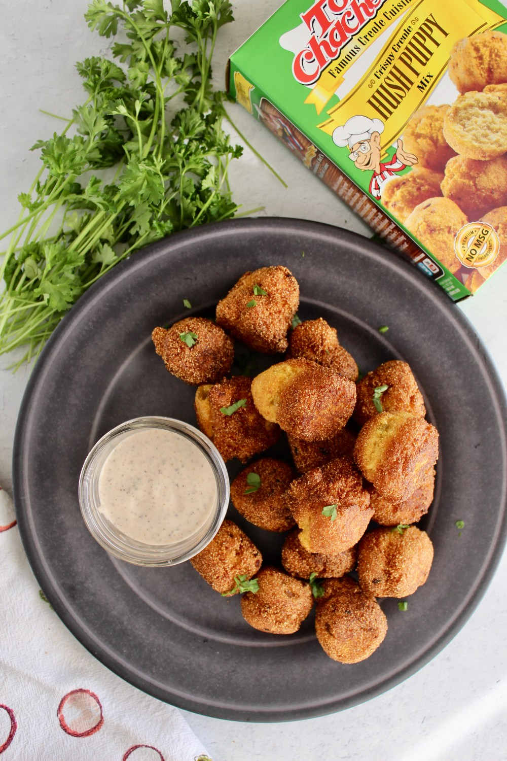 hush puppies on a plate