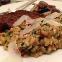 Sun-dried Tomato, Spinach, and Goat Cheese Risotto
