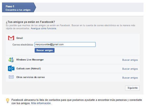 agregar amigos correo al perfil de facebook
