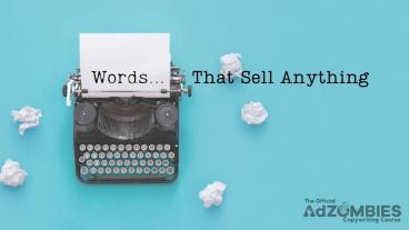 AdZombies - Words That Sell Anything