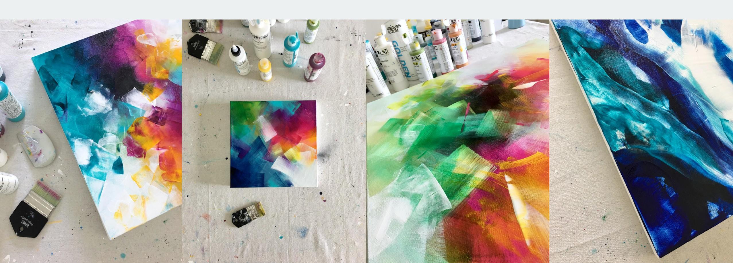 Vibrant Layers With Acrylics Mediums Online Course Deniz Altug