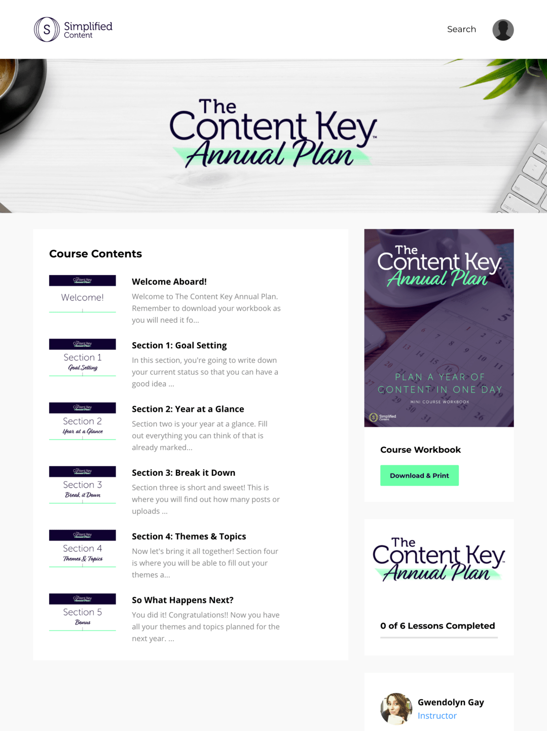 The Content Key Annual Plan