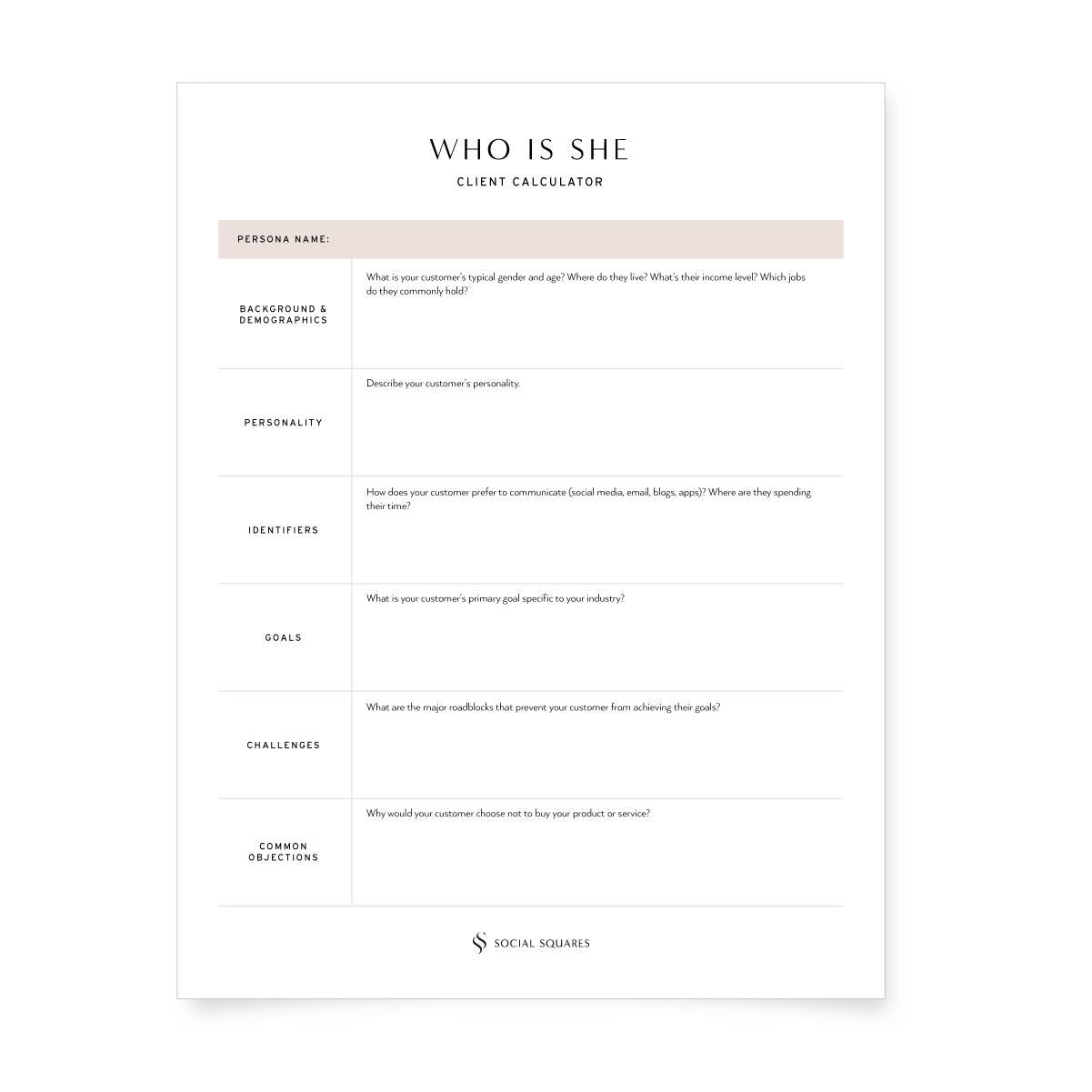 Free Worksheet Client Calculator