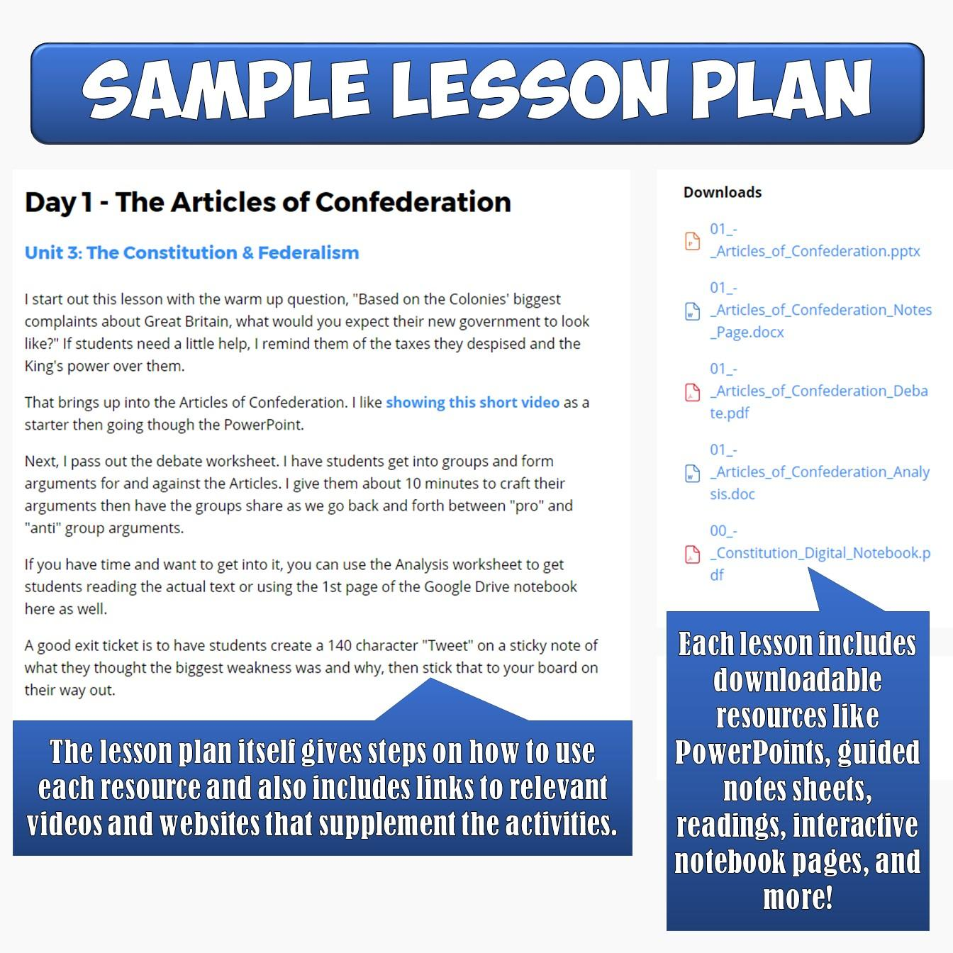 Civics And American Government Lesson Plans