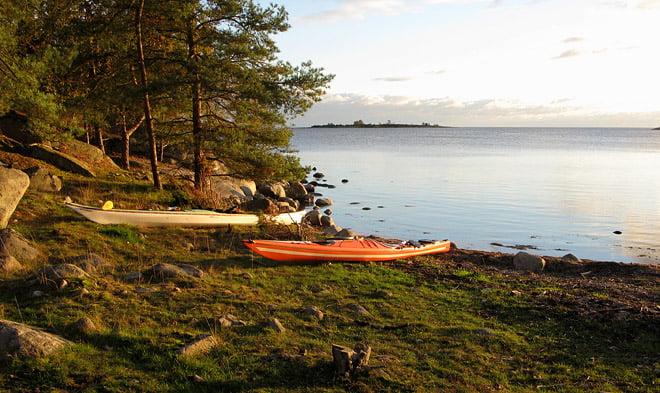Slädö - Ljungskär i bakgrunden