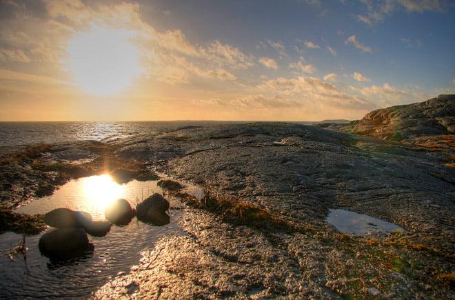 Fina klippor och utsikt