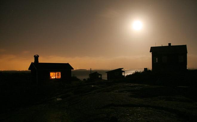 Rejält månsken på kvällskvisten