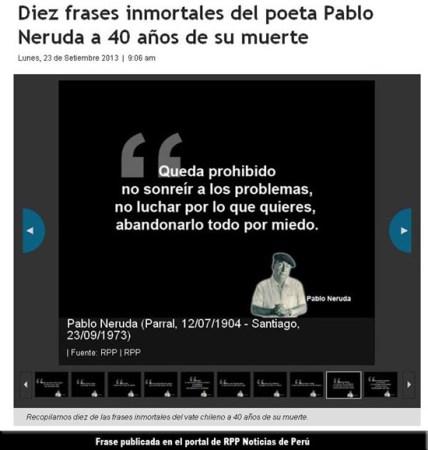 Frases de Neruda