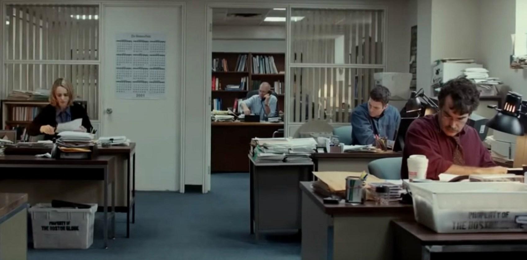 Equipo Spotlight fotograma trailer de la película