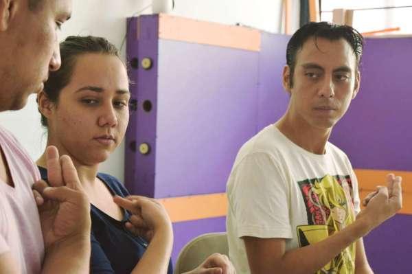 Arturo, otro de los profesores, ense+¦ando_diplomado