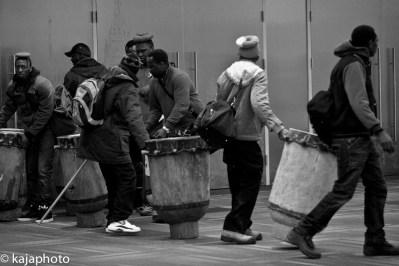 Dare's African Drummers sneaking in