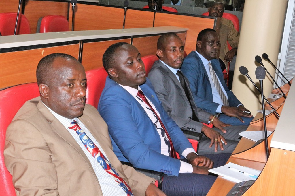 Newly elected Kajiado MCAs being taken through induction on September 4. From left is, Francis Kaesha, Paul Matuyia, Dickson Nkaloyo and Joshua Olowuasa.