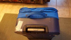 Broken suitcase
