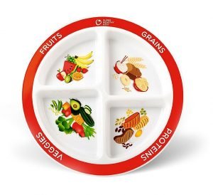 Segmented fruit and vegetable plate