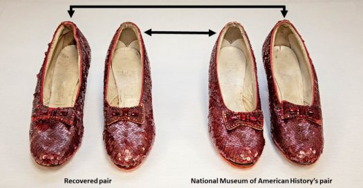 Ruby slipper pairs