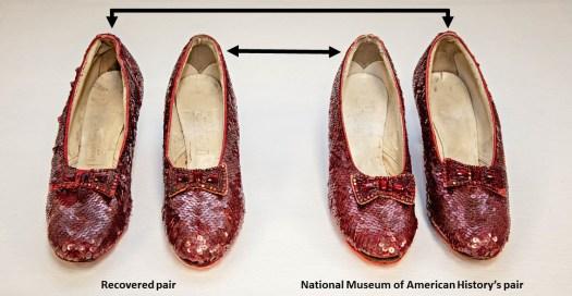 Ruby slipper pairs